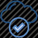 accept, check, cloud, data, storage, tick icon