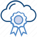 award, cloud, internet, medal, position, prize, storage icon