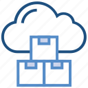 boxes, cloud, cubes, data, products, storage