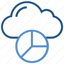 analytics, chart, cloud, computing, data, graph, storage icon