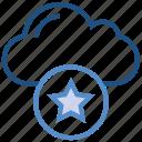 bookmark, cloud, favorite, important, mark, star, storage icon