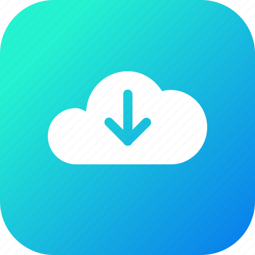 big, cloud, data, database, download, online, storage icon