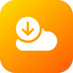 big, cloud, data, database, download1, online, storage icon