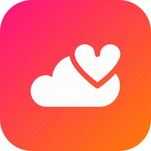big, cloud, data, database, favourite, online, storage icon