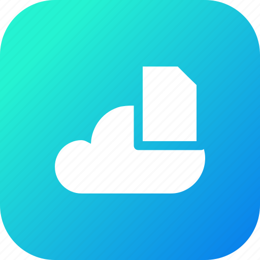 big, cloud, data, database, file, online, storage icon