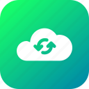 big, cloud, data, database, loading, online, storage icon