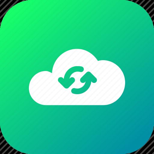 big, cloud, data, database, loading, online, storage icon