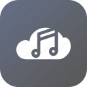 big, cloud, data, database, music, online, storage icon