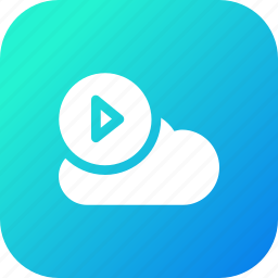 big, cloud, data, database, online, play1, storage icon