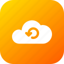 big, cloud, data, database, online, refresh, storage icon