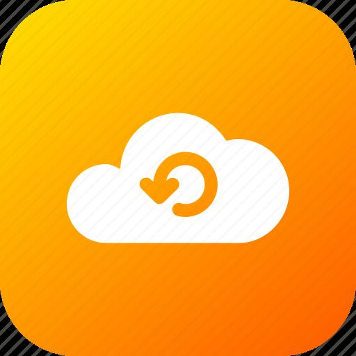 big, cloud, data, database, online, refresh, storage icon