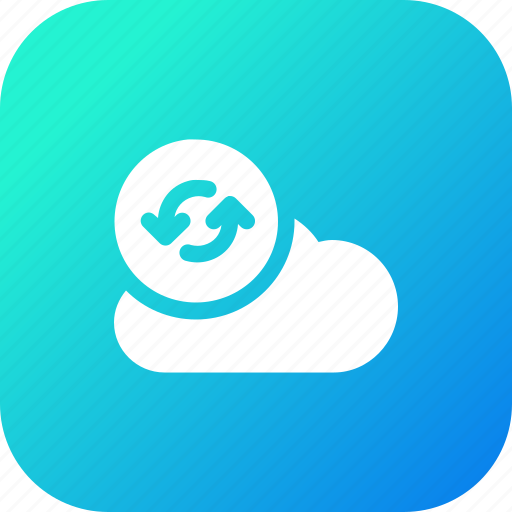 big, cloud, data, database, online, refresh1, storage icon