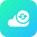big, cloud, data, database, online, refresh12, storage icon