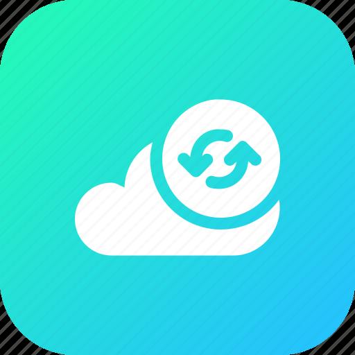 big, cloud, data, database, online, refresh12, storage icon
