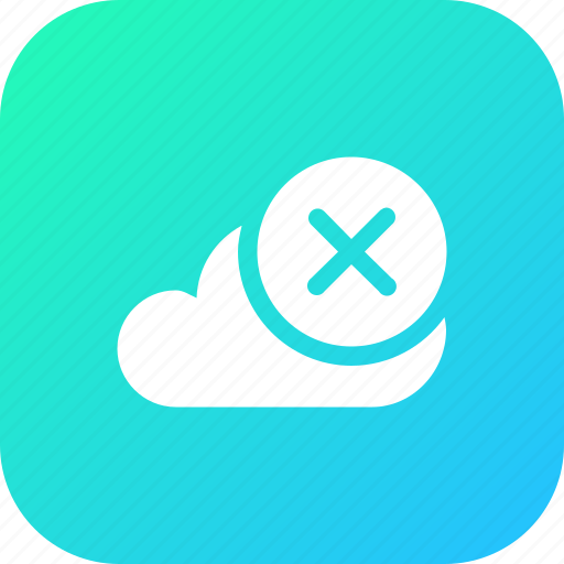 big, cloud, data, database, online, remove, storage icon