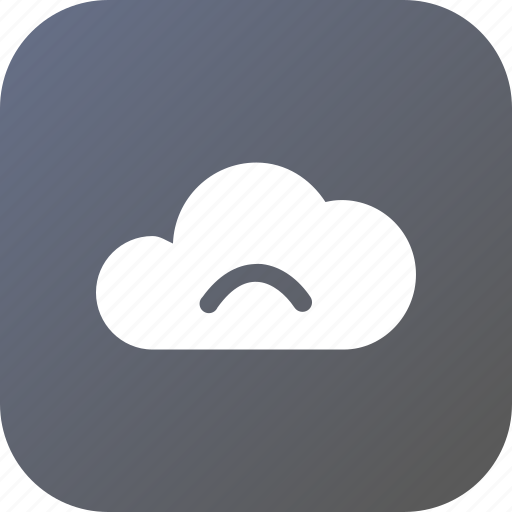 big, cloud, data, database, online, sad, storage icon