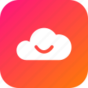 big, cloud, data, database, online, smile, storage icon