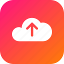 big, cloud, data, database, online, storage, upload icon