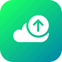 cloud, data, database, online, storage, upload2 icon