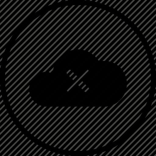 big, cloud, data, database, delete, online, storage icon