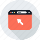 arrow, click, online, web