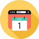 calendar, event, number, one icon