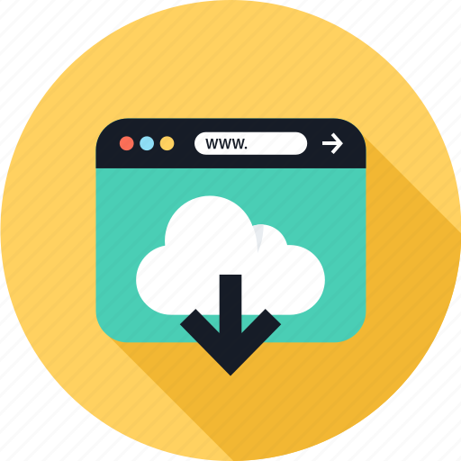 Down, download, web, www icon - Download on Iconfinder