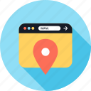 gps, pin, web, www icon