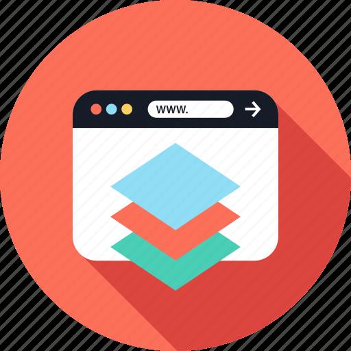 creative, design, layers, www icon