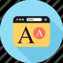 letter, lettering, www icon