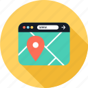 find, locate, map icon