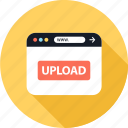 bttn, send, upload, video icon