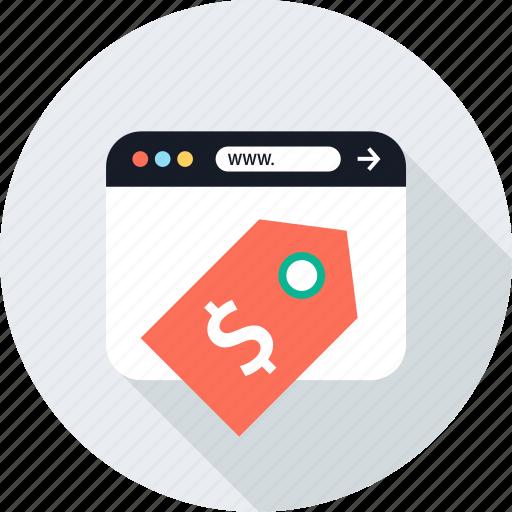 dollar, money, sign, www icon