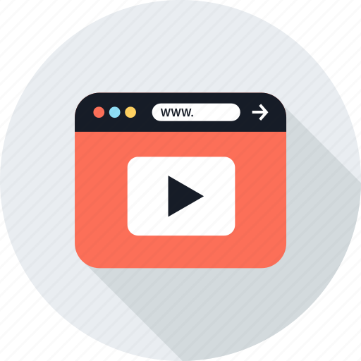 vid, video, youtube icon