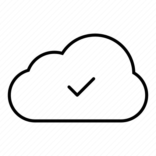 cloud, cloud computing, communication, computing, connection, internet, network, server, tick, weather, web icon