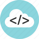 cloud, coding, development, web icon