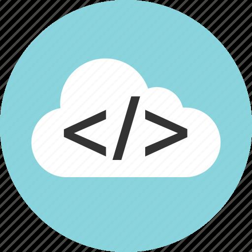 cloud, coding, development, web icon