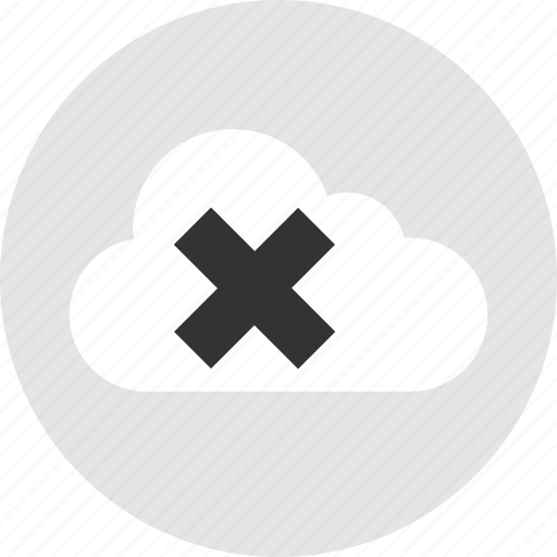 cloud, delete, stop, technology icon