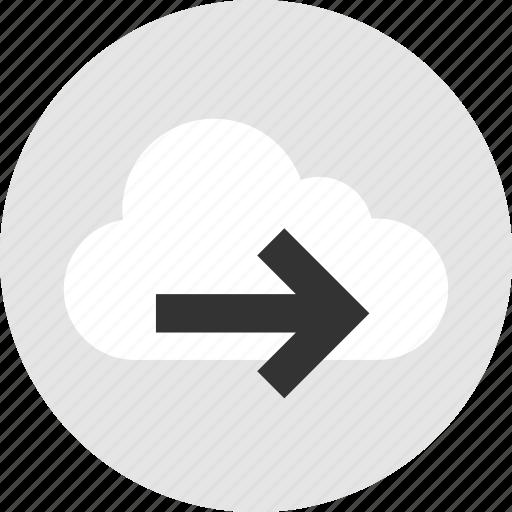 cloud, forward, go, next icon