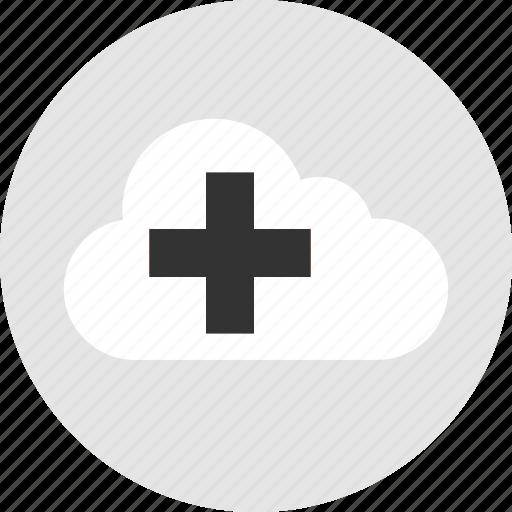 add, additional, cloud, plus icon