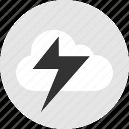 cloud, light, lightning, power icon