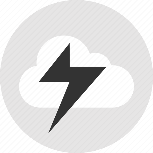 cloud, light, lightning, power icon