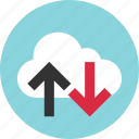 arrows, down, technology, up icon