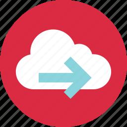 arrow, go, next, technology icon