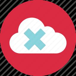 cross, delete, stop, technology icon