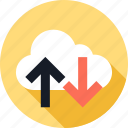 cloud, up, weather icon