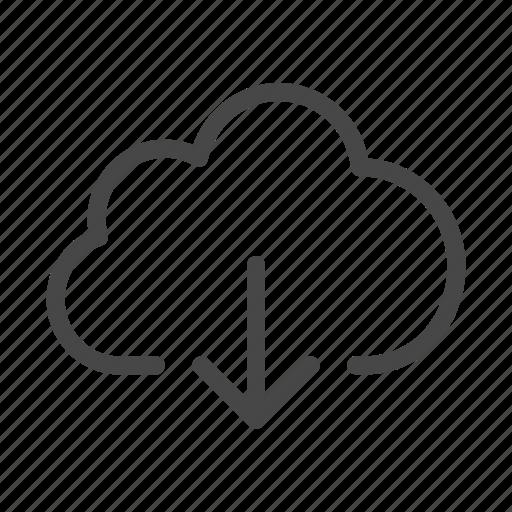 Cloud, data, database, download, internet, server, storage icon - Download on Iconfinder
