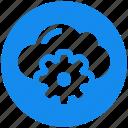 cloud, cogwheel, gear, service, settings icon