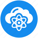 atom, cloud, cloud science, data science icon