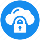 cloud, data, lock, protection icon